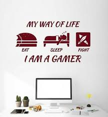 Vinyl Wall Decal Gamer Lifestyle Quote Gaming Play Video Games Stuff Ig5050 Ebay