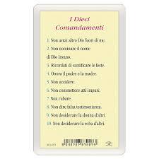 Santino Icona del Gesù Maestro Dieci Comandamenti ITA 10x5 ...