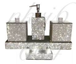ceramic white bathroom accessory set