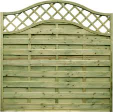 Omega Panel With Lattice Top Lattice Fence Panels