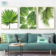 Tropical Banana Leaf Canvas Painting Green Plants Nordic Style Kids Room Decor Posters And Prints Wall Picture For Living Room Painting Calligraphy Aliexpress