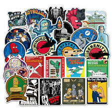 Futurama Sticker Planet Express Bender Fry Cell Laptop Bumper Decal Vinyl Skate