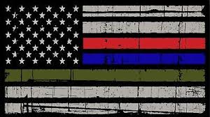 Thin Blue Red Green Line American Flag Distressed Decal You Choose Size 5 5 42 Ebay