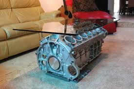 engine block coffee table with that