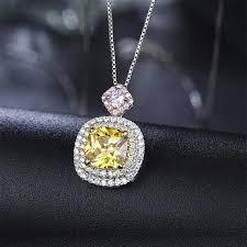halo pendant 14k 18k solid white gold