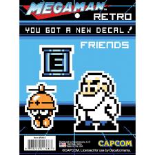 Mega Man Retro 8 Bit Friends Decal Car Sticker Wall Palz