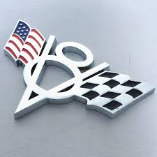 Metal V8 America Flag Car Emblem Badge Sticker Decal Car Styling For Ford Chevrolet Dodge Jeep Cadillac Buick Lincoln Chrysler Auto Accessories Wish