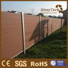 China Uv Resistance Metal Frame Garden Wood Composite Outdoor Fence Without Color Fading China Garden Fence Supplier Wpc Fence Supplier
