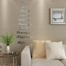 1 Set 3d Acrylic Mirror Effect Quote Words Stair Decals Wall Stickers Home Decor