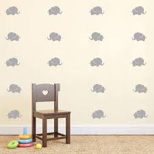 Amazon Com K Decal Baby Elephant Wall Decals Nursery Wall Stickers Baby Room Decor Animal Vinyls Removable Vinyl Wall Stickers For Baby Kids Boy Girl Bedroom Nursery Decor Gray Kitchen Dining