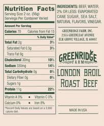 london broil roast beef greenridge farm