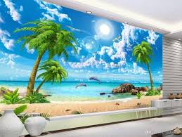 Beach Scene Wall Murals Sale Hawaiian Caribbean Art Themed Cheap Huntington 3d Vamosrayos