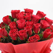 romantic 20 red roses bouquet gift