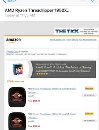 Amazon TR promotion email but with Intel ad on top. : AMD_Stock