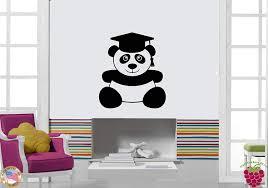 Amazon Com Wall Stickers Vinyl Decal Panda Wearing Academic Graduation Cap Z1163 Home Kitchen