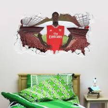 Official Licensed Football Entertainment Wall Stickers Arsenal Football Club Nicolas Pepe Smashed Gunners Wall Sticker Set The Beautiful Game