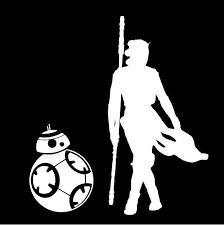 Rey Bb 8 Star Wars Inspired Window Sticker Decal Stick Emall Vinyl Decals