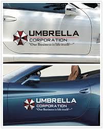 New Hot Car Reflective Resident Film Evil Sticker Umbrella Corporation Door Sticker Personalized Decals Decor Wish