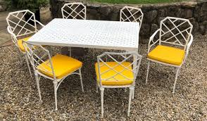 garden table chairs from brown jordan