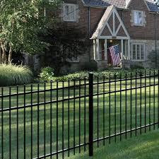 Tuffbilt Cascade Heavy Duty 5 Ft H X 8 Ft W Black Aluminum Pre Assembled Fence Panel 73003515 The Home In 2020 Aluminum Fence Landscaping Fence Panels Fence Design