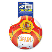 Case Of 12 Beistle Spain Themed Soccer Ball Stickers