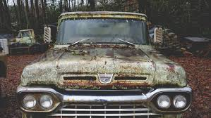 old abandoned ford truck wallpaper