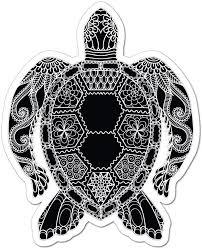 Amazon Com Turtle Henna Pattern Mandala Ocean Sea Animal Love Car Sticker Decal Automotive