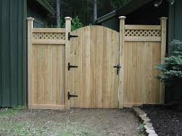 Wooden Fence Door Designs Strangetowne Ideas For Fence Designs