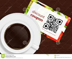 cup of coffee discount coupon stock illustration