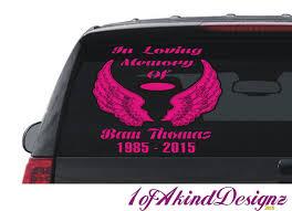 In Loving Memory Angel Wings Halo And Name Decal Sticker Hip Hop Vinyl Car Truck Laptop Window Sweet Cars In Loving Memory Oracal Vinyl