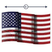 American Flag Distressed Wavy Wall Graphic Large Removable 1 Foot Wide 12 Inch Premium Vinyl Peel And Stick Decal Sticker Walmart Com Walmart Com