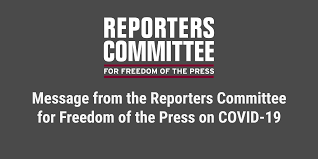 Message from the Reporters Committee on COVID-19