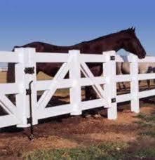 Certagrain White 3 Rail Horse Fence Gate Avinylfence Com