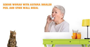 Senior Woman With Asthma Inhaler Wall Decal I Cant Believe They Sell That