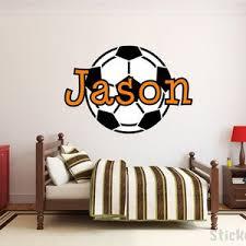 Soccer Name Monogram Nursery Room Vinyl Wall Decal Graphics Etsy