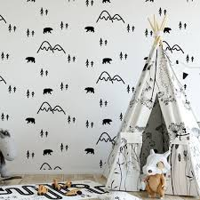 Multicolor Mountain Wall Stickers Kids Room Woodland Vinyl Wall Decals Baby Nursery Wall Decor Home Murals Wall Tattoo Jw362 Buy At The Price Of 5 90 In Aliexpress Com Imall Com