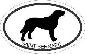 Oval Sticker Saint Bernard 3 5 X 5 5 Window Bumper Sticker Car Decal Ipad Laptop Saint Bernard Car Bumper Stickers Bernard