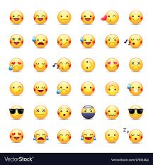 smileys icon set emoticons pictograms