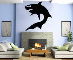 Shark Silhouette Ocean Hunter The Jaws Marine Tribal Animal Decor Wall Mural Vinyl Decal Sticker M079 Aiya9483t