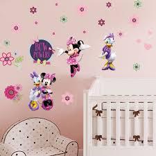 Minnie Mouse Daisy Duck Flower Removable Wall Sticker Girls Nursery Decor Disney Wall Stickers Girl Nursery Wall Stickers Kids Nursery Decor Girl