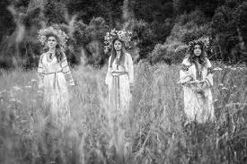 photos of russian pagans burning stuff