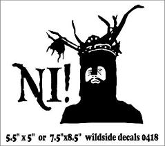 Knight Who Says Ni Decal Monty Python Holy Grail Funny Vinyl Car Sticker Ebay