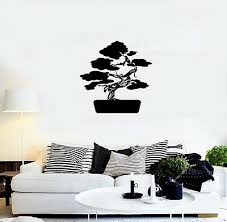 Vinyl Decal Wall Sticker Decor Bonsai Asia Tree Nature Japan Unique Gift G040 Ebay