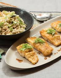 Cod Teriyaki with Shiitake Fried Rice ...