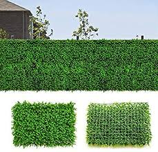 Artificial Boxwood Panel Hedges Faux Grass Shrubs Decorative Garden Fence Covers Privacy Screen Greenery Walls For Outdoor Indoor 26 Sq Feet 4pcs Amazon Ca Patio Lawn Garden