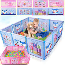 Cartoon Children Kids Play Pen Fence Playpen Baby Safety Pool Baby Game Toddler Craw Wish