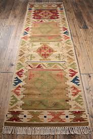 handcrafted kilim runner rug for
