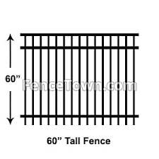 60 Inch Tall Aluminum Fence Panels Aluminum 5 Foot Tall Fence