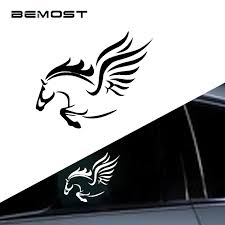Car Decal Car Sticker Fashion Cartoon Fantasy Pegasus Car Stickers Horses Cover The Scratch Decals Accessories Styling For Car Laptop Window Sticker Exterior Accessories Cbib Cl