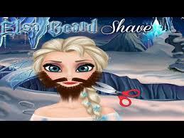 frozen elsa beard shave make up